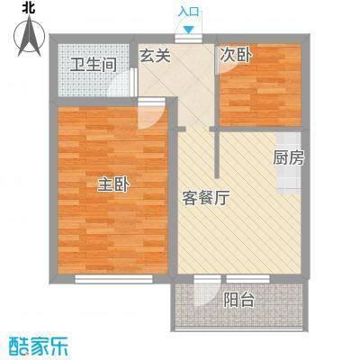 净馨家园65.28㎡净馨家园户型图2室1厅1卫户型10室
