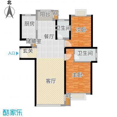 春天花园123.27㎡春天花园户型图2室2厅2卫户型10室