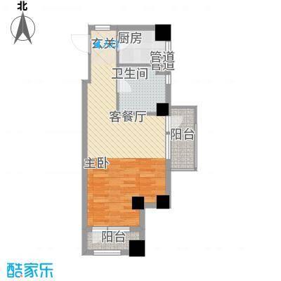 复地大都汇62.50㎡复地大都汇户型图户型图11室1厅1卫1厨户型1室1厅1卫1厨