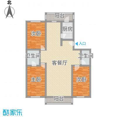 弘海小区150.07㎡弘海小区一期户型图3室2厅2卫1厨户型10室