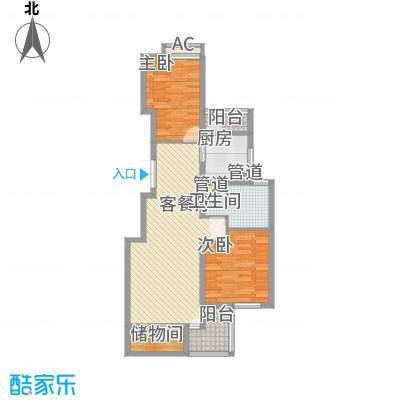 欧风家园95.00㎡欧风家园2室户型2室