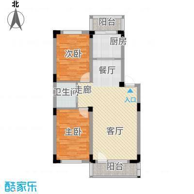 轩泽硅谷壹号83.00㎡轩泽硅谷壹号户型图83平方米D3户型图2室2厅1卫1厨户型2室2厅1卫1厨