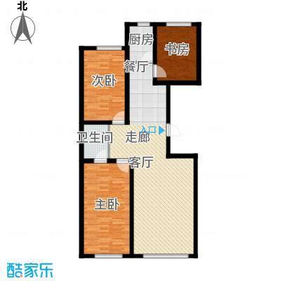 御景名家117.27㎡J户型3室2厅1卫1厨