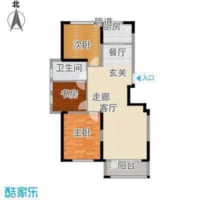 华亿红府108.00㎡华亿红府户型图住宅B-8户型图3室2厅1卫户型3室2厅1卫