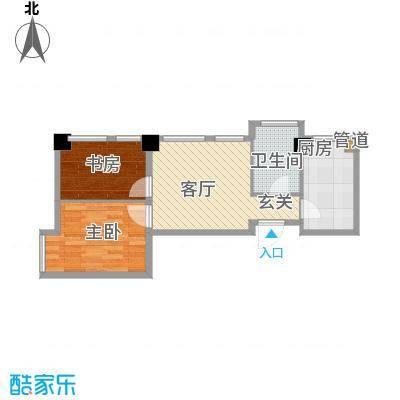 华亿红府69.00㎡华亿红府户型图公寓A-6户型图2室2厅1卫户型2室2厅1卫