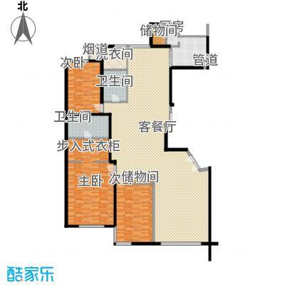 富苑尊邸252.00㎡B户型3室3厅2卫