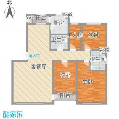 长影世纪村158.51㎡长影电梯洋房户型图8户型4室2厅2卫