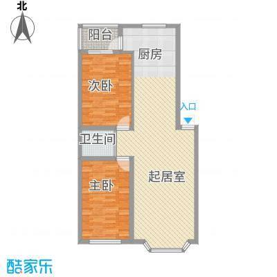 华宇花园109.16㎡华宇花园户型图2室2厅1卫1厨户型10室