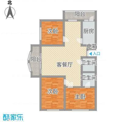 松宇花园130.00㎡松宇花园户型图3室2厅2卫1厨户型10室