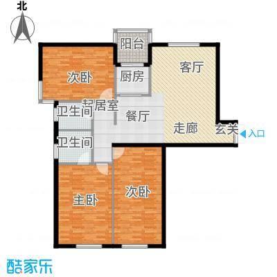 富苑华城133.27㎡富苑华城户型图3室2厅2卫户型10室