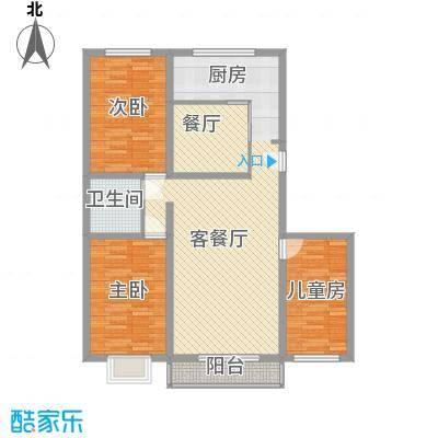 欧风花园128.32㎡欧风花园户型图3室2厅1卫1厨户型10室