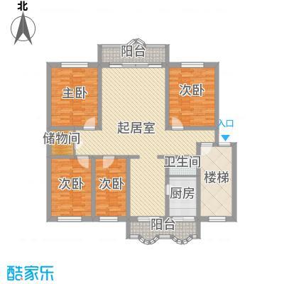 宽平花园180.59㎡宽平花园户型图4室2厅2卫1厨户型10室