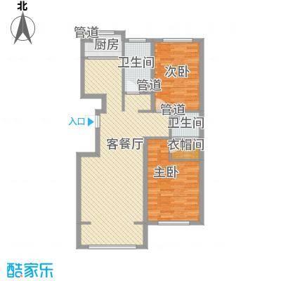 欧风花园91.00㎡欧风花园2室户型2室
