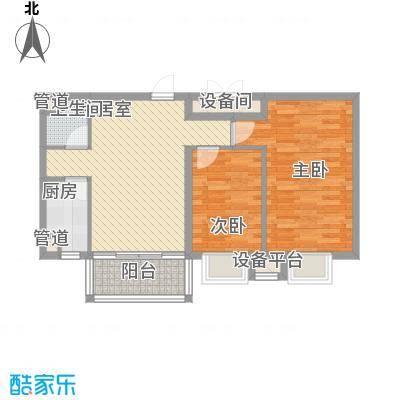 红旗街万达广场85.62㎡4#户型图8户型1室1厅1卫1厨