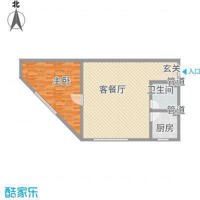 怡众名城90.00㎡怡众名城户型图小公寓C5户型图1室2厅1卫1厨户型1室2厅1卫1厨