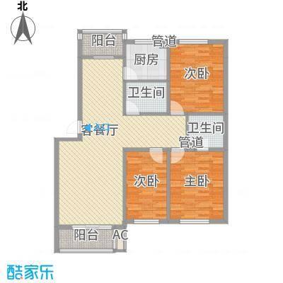 格调小区131.35㎡格调小区户型图3室2厅2卫户型10室