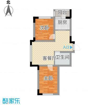 飞悦经典70.86㎡08高层户型图5户型2室2厅1卫