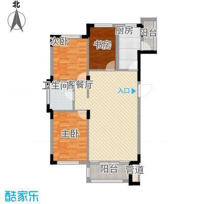 飞悦经典108.48㎡08高层户型图2户型3室2厅1卫