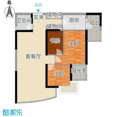 中山花园129.40㎡中山花园户型图3室2厅1卫1厨户型10室