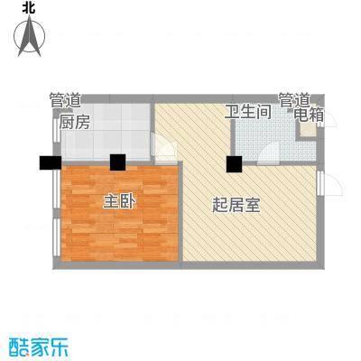 家天下65.44㎡家天下户型图平层1室2厅1卫户型1室2厅1卫