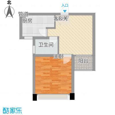 世纪华城52.04㎡世纪华城户型图10#1室2厅1卫1厨户型1室2厅1卫1厨