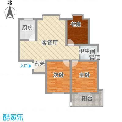 绿园爱舍120.00㎡绿园爱舍户型图L43室2厅1卫1厨户型3室2厅1卫1厨
