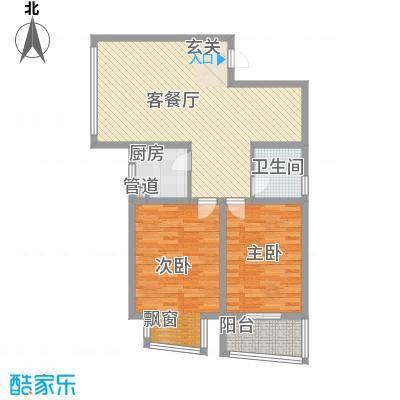 @时代爱特大厦105.14㎡@时代爱特大厦户型图C2室2厅1卫1厨户型2室2厅1卫1厨