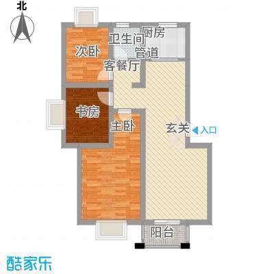 清潭花苑户型图1 3室2厅1卫1厨