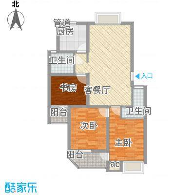 怡和花园105.20㎡怡和花园户型图7号楼3室2厅2卫1厨户型3室2厅2卫1厨