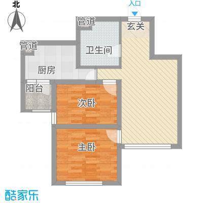 檀香湾73.39㎡檀香湾户型图73.39平米刚需高层户型2室2厅1卫1厨户型2室2厅1卫1厨