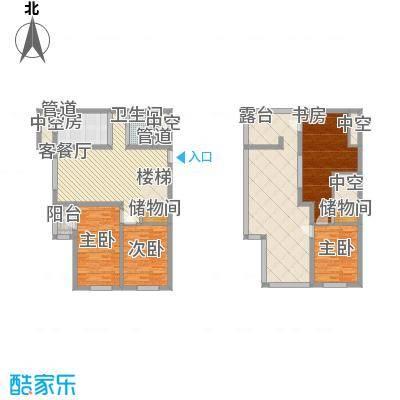 东皇君园85.95㎡新品D1户型2室2厅1卫