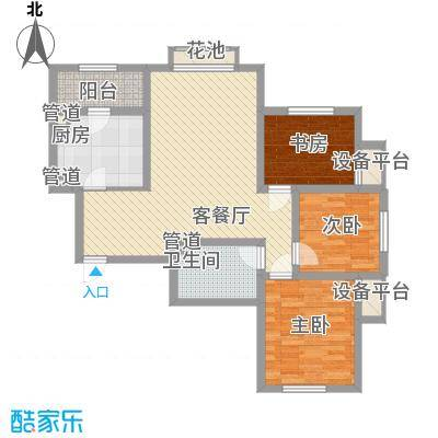 君地天城101.00㎡君地天城户型图一期S户型图3室2厅2卫户型3室2厅2卫