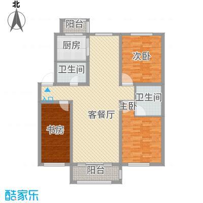 力旺康景135.02㎡力旺康景户型图二期F户型图3室2厅2卫户型3室2厅2卫
