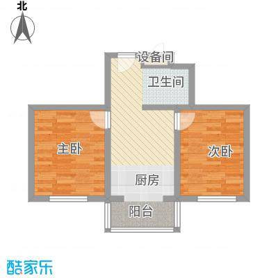 兴顺花园58.62㎡兴顺花园户型图二期户型图2室1厅1卫户型2室1厅1卫
