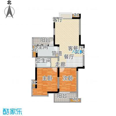 彩虹城102.42㎡A2(一期)户型2室2厅1卫1厨