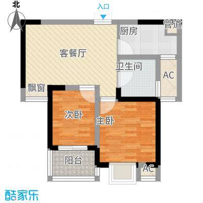 桃园新村65.00㎡桃园新村2室户型2室