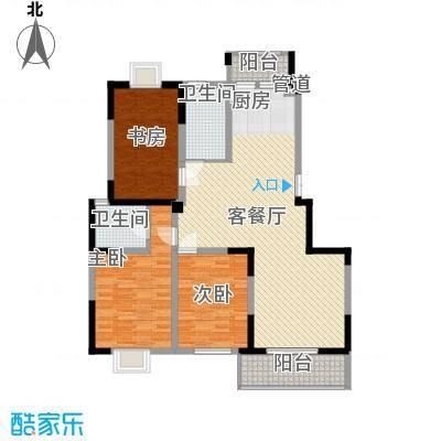 国泰新都145.00㎡国泰新都户型图D型3室2厅2卫1厨户型3室2厅2卫1厨