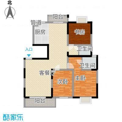 国泰新都148.00㎡国泰新都户型图E型3室2厅2卫1厨户型3室2厅2卫1厨