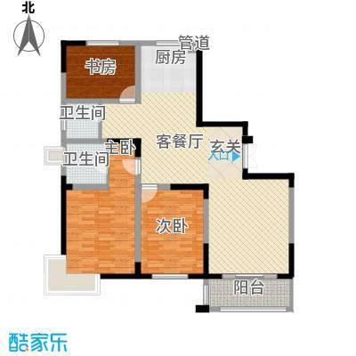 国泰新都149.00㎡国泰新都户型图C型3室2厅2卫1厨户型3室2厅2卫1厨