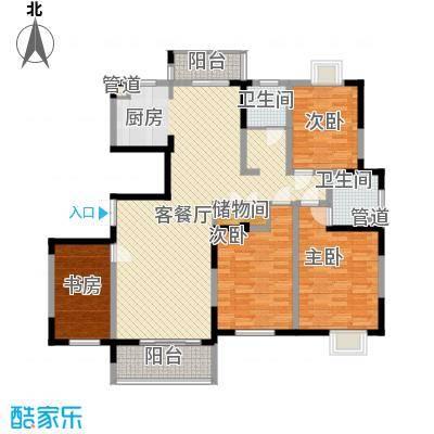 国泰新都167.13㎡国泰新都户型图J型4室2厅2卫1厨户型4室2厅2卫1厨