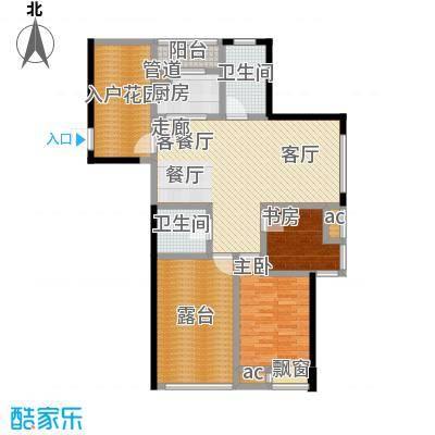 东城明居121.00㎡东城明居户型图C-23室2厅2卫1厨户型3室2厅2卫1厨