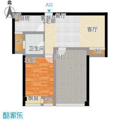 东城明居81.60㎡东城明居户型图C-12室2厅1卫1厨户型2室2厅1卫1厨