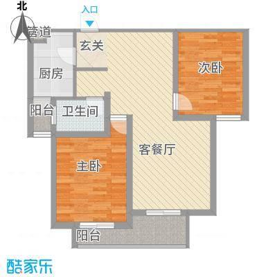翠园世家90.00㎡翠园世家户型图B22室2厅1卫1厨户型2室2厅1卫1厨