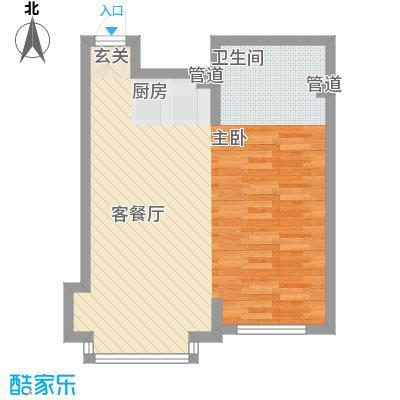 嘉和丽景58.00㎡户型图A户型1室1厅1卫