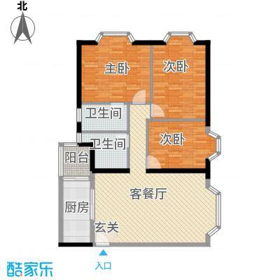 康云明居康云明居户型图h43室2厅2卫1厨户型3室2厅2卫1厨
