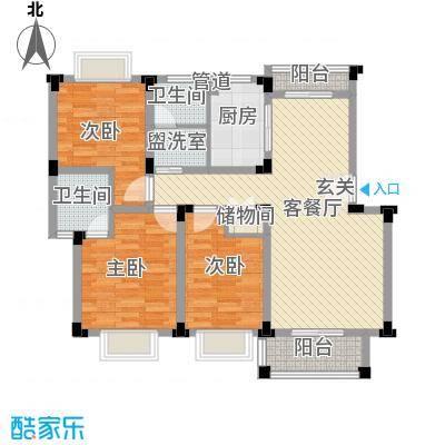 东方花园127.00㎡东方花园3室户型3室