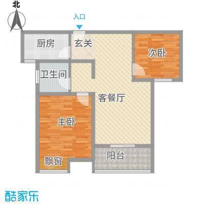人民家园二期88.08㎡人民家园二期户型图J2室2厅1卫1厨户型2室2厅1卫1厨