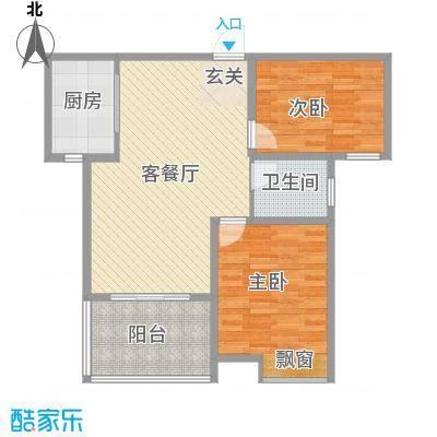 人民家园二期92.22㎡人民家园二期户型图D2室2厅1卫1厨户型2室2厅1卫1厨