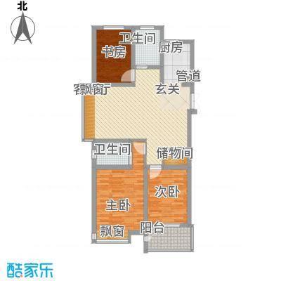 荆溪福院十二园113.00㎡一期C户型3室2厅2卫1厨