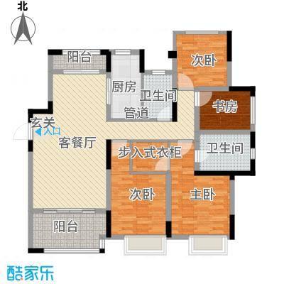 蔚蓝天地142.00㎡蔚蓝天地户型图142㎡D户型4室2厅2卫1厨户型4室2厅2卫1厨